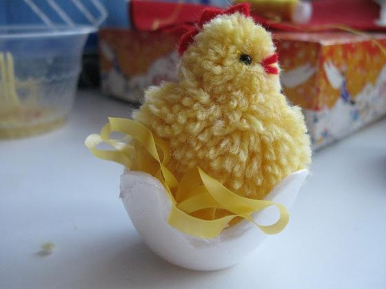Поделки на пасху цыплята