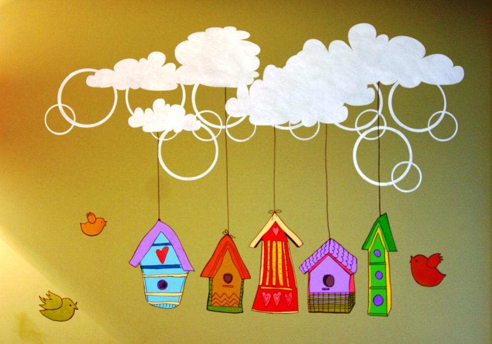 Рисунки в детскую комнату своими руками картинки