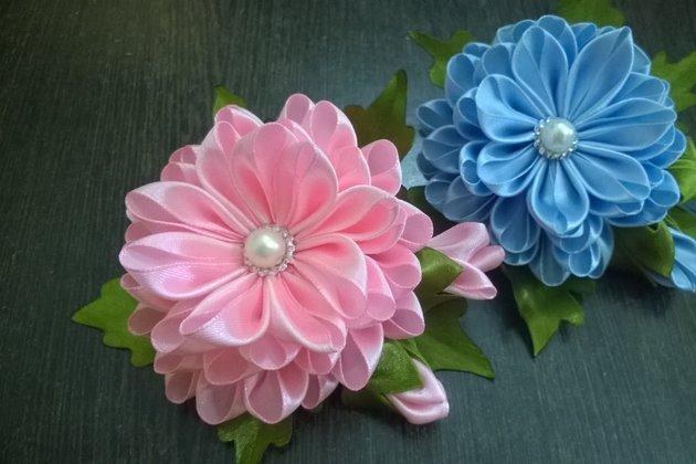 Цветы из ленты 25 см