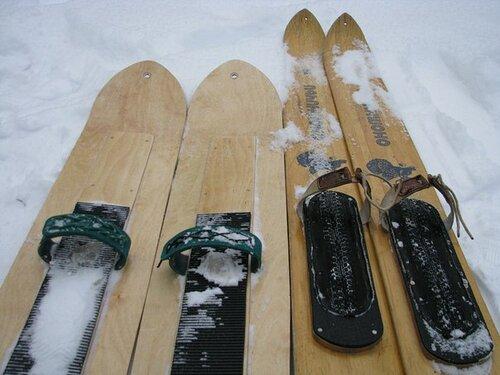 Как сделать охотничье лыжи 198