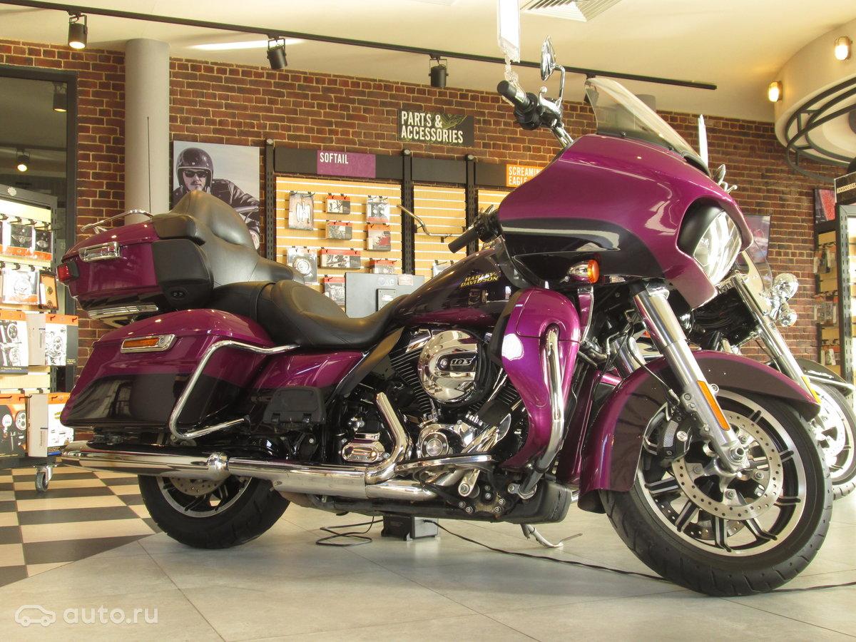 Harley-davidson road glide 2015 года, пробег 28 000 км, двигатель 17 л, цвет фиолетовый за 1 400 000 рублей