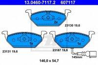 Колодки дисковые передние vw golf, skoda octavia 1.4-1.9sdi 96 Ate 13046071172