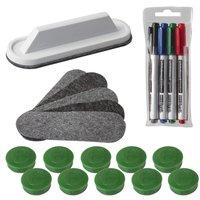 Набор для магнитно-маркерной доски 2X3 Eco Boards AS116, 4 маркера+стиратель+чистящее средство+10 магнитов
