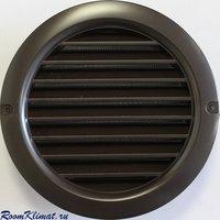 Решетка вентиляционная пластиковая круглая Vents МВ 100 бВС коричневая