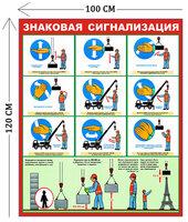 Стенд Знаковая сигнализация 120х100см (1 плакат)