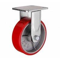 FCp 46 колесо 100 мм неповоротное большегрузное чугунное полиуритановый обод (опора неповоротная)