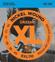 D`ADDARIO EXL110 NICKEL WOUND REGULAR LIGHT 10-46 струны для электрогитары, никелированная сталь, 10-46