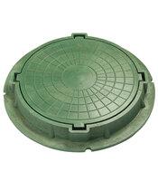 Люк полимерно-композитный легкий зеленый 840х110 мм, 3 т