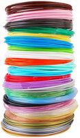 Набор пластика для 3D ручек по 10м 24 цвета в пакете PLA24