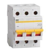 Выключатель нагрузки ВН-32, 3 п, 100 А, арт. MNV10-3-100