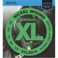 Струны для бас-гитары DAddario EXL220-5 Super Light Nickel Wound 40-125 Long Scale