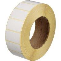 Термотрансферные этикетки бумажные полуглянцевые 43x25 мм (диаметр втулки 76 мм, 3000 штук в рулоне)