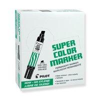 Маркер перманентный PILOT Super Color SCA 6600 3-10мм клиновидный черный (упаковка из 12 штук)