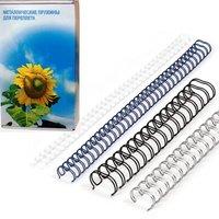 Пружины для брошюратора Office Kit D6.4 мм (1/4) серебряные 100 шт.