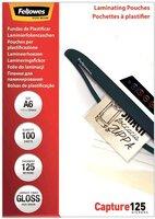 Пленка для ламинирования пакетная Fellowes, 111 х 154 мм, 125 мкм, глянцевая, 100 шт. (FS-53072)