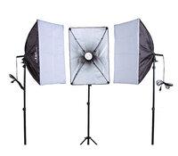 Комплект постоянного света FST ET-463 Kit, люминесцентный, 3х125 Вт, 5500К
