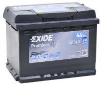 Аккумулятор автомобильный Exide Premium 64 А/ч 640 A обр. пол. EA640 Евро авто (242x175x190)