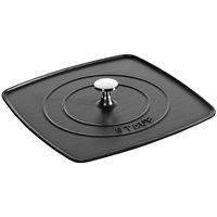Прессы для гриля Staub Чугунная крышка-пресс для сковороды-гриль, 30х30 см, черный