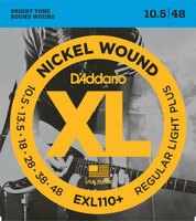 Струны для электрогитары DAddario EXL110+ Regular Light Plus Nickel Wound 10.5-48