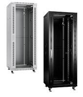 Шкаф телекоммуникационный напольный, 37U 600x800x1833 мм, дверь стекло, серый/черный Cabeus SH-05C-37U60/80 Серый
