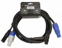 Invotone ADPC1002 - кабель смежный 3х1.5мм & 2х0.22мм PowerCon in/out - XLR DMX in/out 2 м