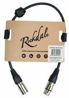 ROCKDALE MC001-30CM готовый микрофонный кабель, разъёмы XLR, длина 30 см