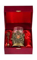 Набор для чая подарочный Россия (3 предмета) в футляре ПДКО-328ДФ