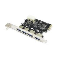 Контроллер PCI-E, USB 3.0 4 внеш.порта, модель PCIe4USB3.0, Espada, oem