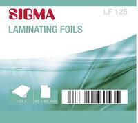 Пленка для ламинирования Sigma бесцветная 3 слоя 60 х 96 мм 125 мкм 100 шт, 1 шт.