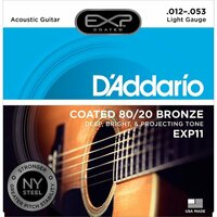 DADDARIO EXP11 COATED BRONZE CUSTOM LIGHT 12-53 струны с полимерным покрытием для ак. гитары