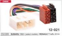 ISO-переходник SUBARU 1992+ (выборочн. модели) / RENAULT Traffic 2014+ (CARAV 12-021)