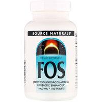Source Naturals FOS (фруктоолигосахариды), 100 таблеток
