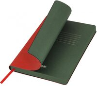 LXX1501256-060 Ежедневник недатированный portobello trend river side, 145х210 мм, красный / зеленый