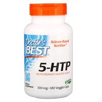 Doctors Best 5-HTP, 100 мг, 180 вегетарианских капсул