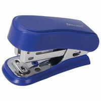Степлер 24/6, 26/6 мини BRAUBERG Standard, до 25 листов, с антистеплером, синий