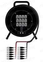 1K-PW6/6RX-030 12-кан.(6-IN/6-OUT) студийная аудио мультикорная система на катушке (6x XLR3 гнездо/6xXLR3 штекер) > коса (6x XLR3 штекер/6х XLR3 гнездо)