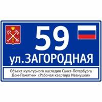Адресная табличка Stritoseven для городских домов