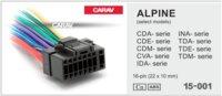 Разъем для автомагнитол ALPINE CDA-; CDE-; CDM-; CVA-; IDA-; INA-; TDA-; TDE-; TDM-series 16-pin (22x10mm) (CARAV 15-001)