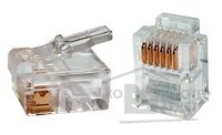 Gembird коннектор телефонный RJ11 6P4C 100 шт. в уп.!!! MP-6p4c 5