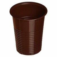 Стакан одноразовый Комус пластиковый коричневый 180 мл 100 штук в упаковке