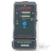 Gembird NCT-2 Тестер LAN Cablexpert , 100 1000 Base-TX, для UTP, STP, RJ-11, USB-кабеля
