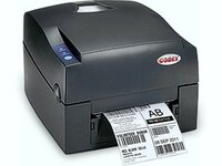 Принтер этикеток Godex G300UES термотрансферный, 203 dpi, полдюймовая втулка риббона, USB+RS232+Ethernet