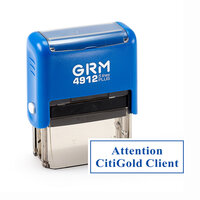 Штамп 47х18 мм, на автоматической оснастке - GRM 4912 Plus, синий корпус