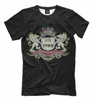Футболка Print Bar BORN 1988 (DVV-634344-fut-2-6XL)