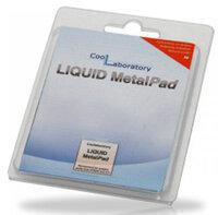 Термоэлемент Coollaboratory CL-MP-1G Liquid MetalPad 1xGPU, 20 х 20 мм, состоит только из металлов, состояние меняется от твердого к жидкому