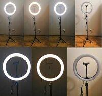Кольцевая лампа, круглая лампа Premium Plus (штатив тренога в комплекте)