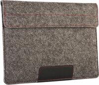 Чехол-конверт Alexander Felt & Leather Edition для MacBook Air 13 2018/Pro 13 Touch Bar из войлока и кожи с двумя карманами, цвет Серый