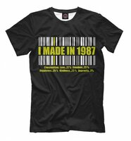 Футболка Print Bar I MADE IN 1987 (DVE-180623-fut-2-S)