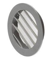 Вентиляционная решетка наружная круглая алюминиевая d125 мм c фланцем d100 мм