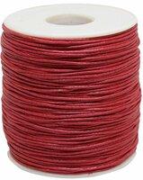 Шнур вощеный, на катушке, цвет: красный, 1 мм x 100 м